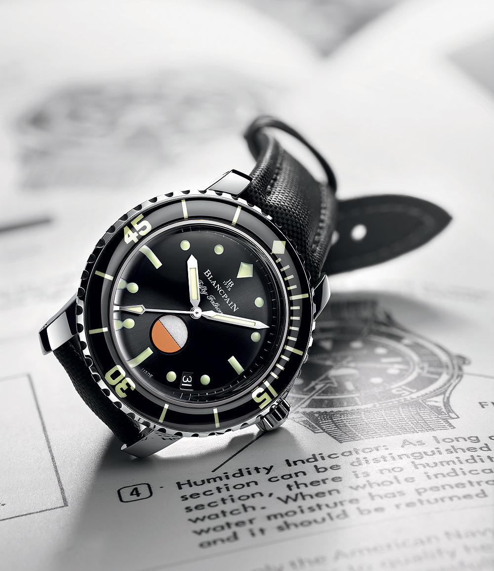 Blancpain Tribute to Fifty Fathoms Mil-Spec - reclining