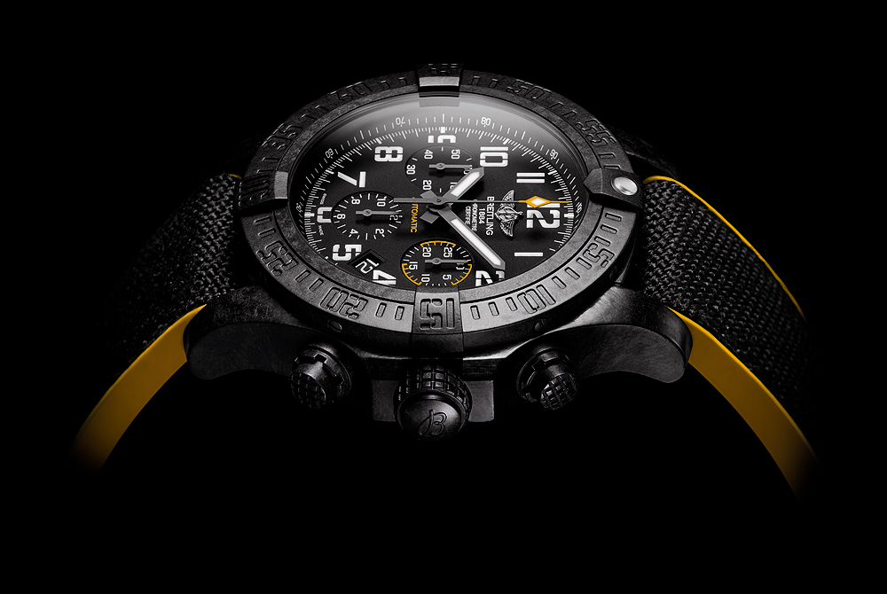 Breitling Avenger Hurricane-45 Black Dial - side