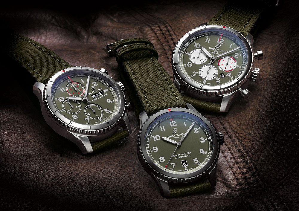 Breitling Aviator 8 Curtiss Warhawk Editions - group