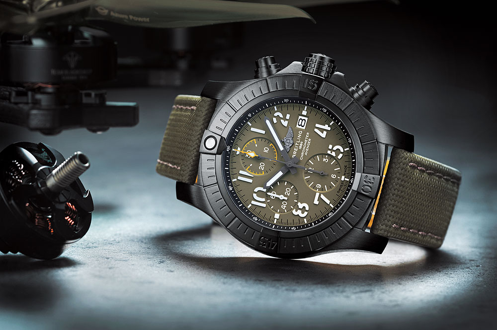 Breitling Avenger Chronograph 45 Night Mission - reclining