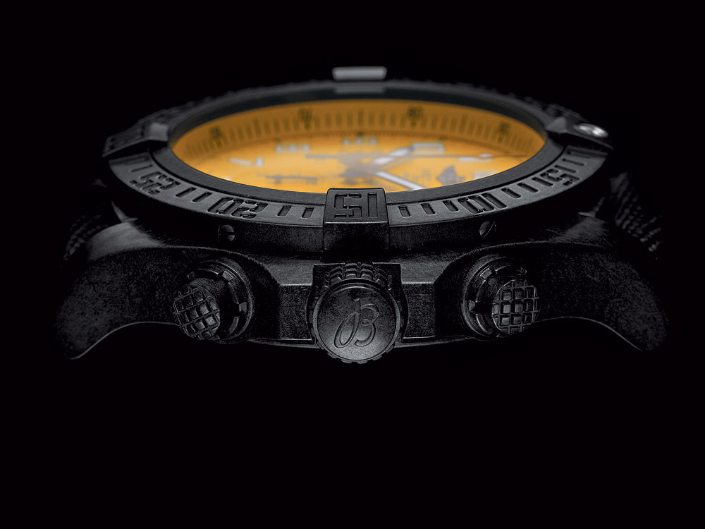 Breitling Avenger Hurricane 12-Hour Yellow Dial - side