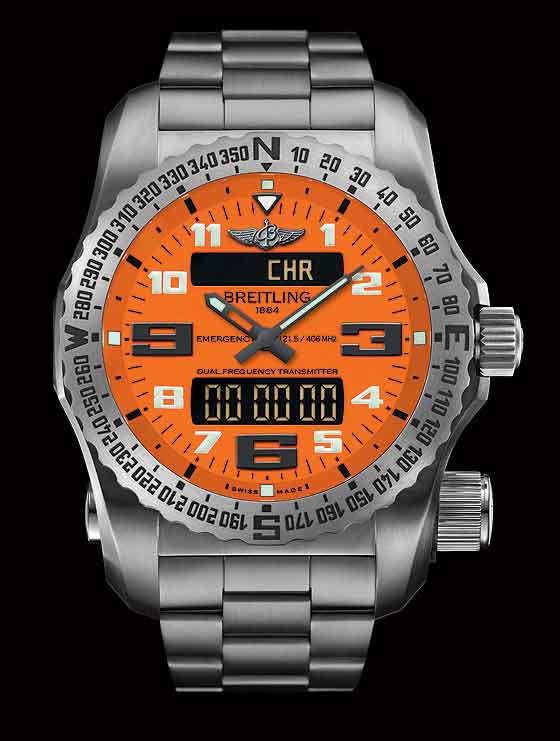 Breitling Emergency II - Orange dial