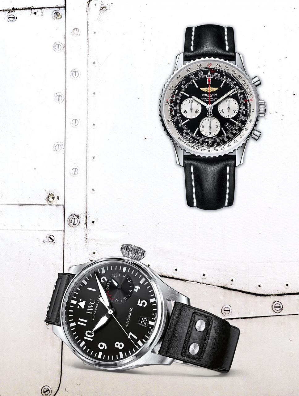 Breitling Navitimer & IWC Big Pilot Watch