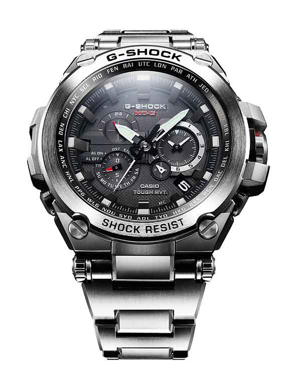Casio G-Shock MTGS1000D-1A in steel - front