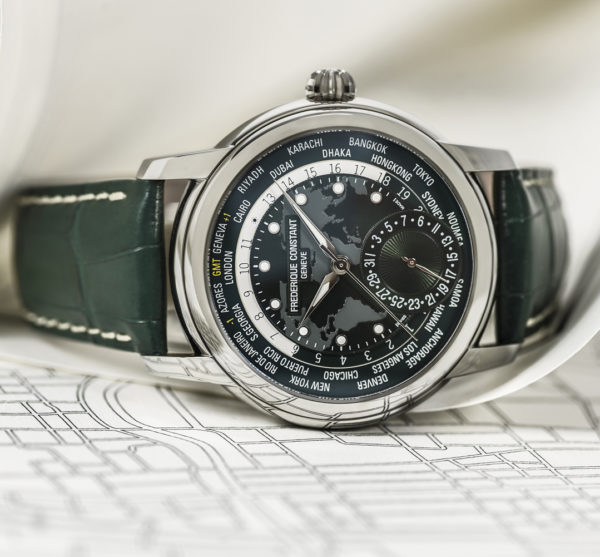 Frederique Constant Classic Worldtimer Manufacture - green