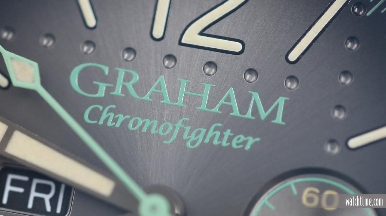 Graham Chronofighter Vintage Aircraft Ltd - Dial - logo