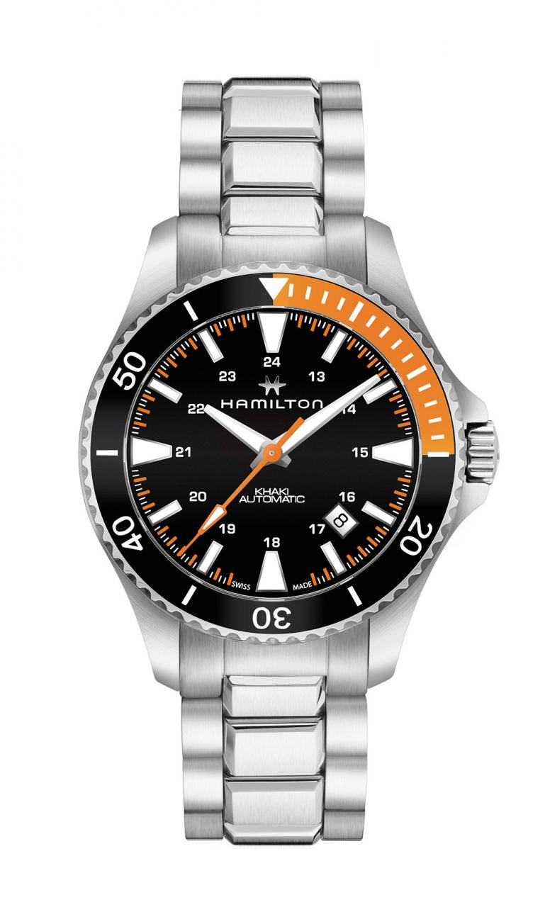 Hamilton Khaki Navy Scuba - orange/black - bracelet