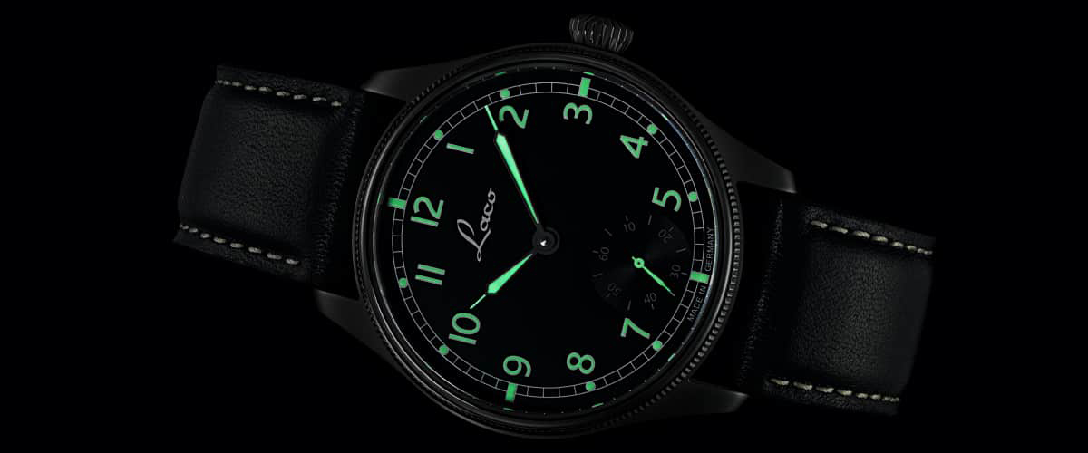 Laco Navy watch - lume