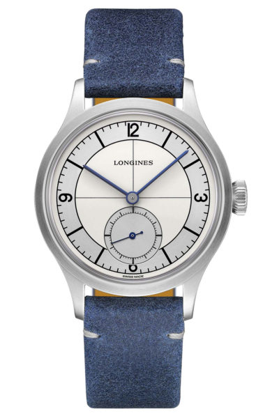 Longines Heritage Classic Sector Dial - dark blue - front