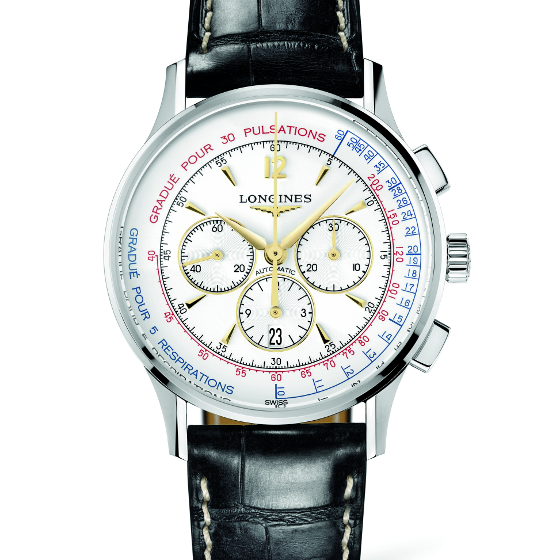 Longines offers a chronograph with both an asthmometer and a pulsometer.