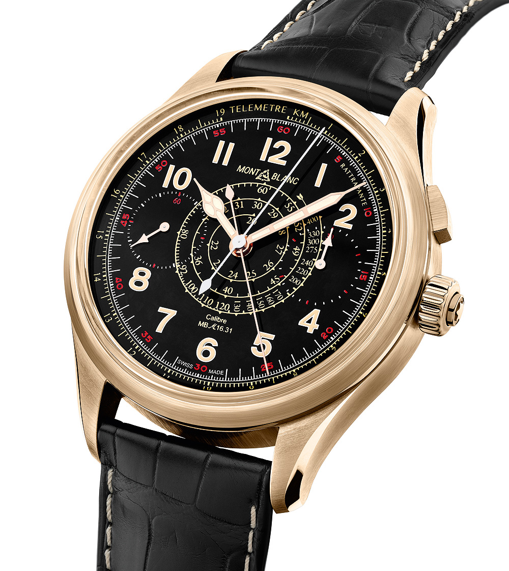 Montblanc 1858 Split Second Chronograph Limited Edition 100 - angle