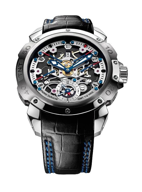 Pierre DeRoche TNT Royal Retro GMT - front