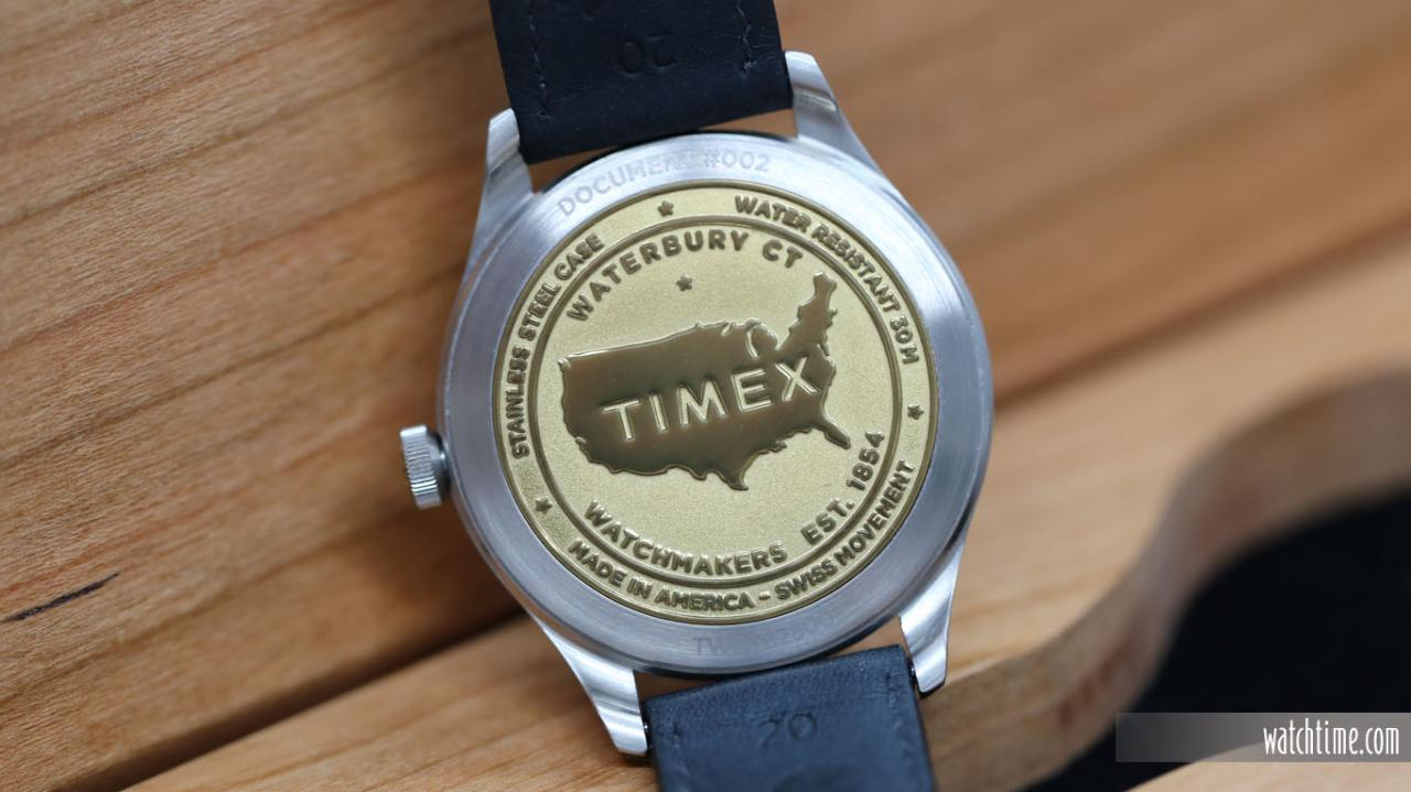 Timex American Documents - Caseback