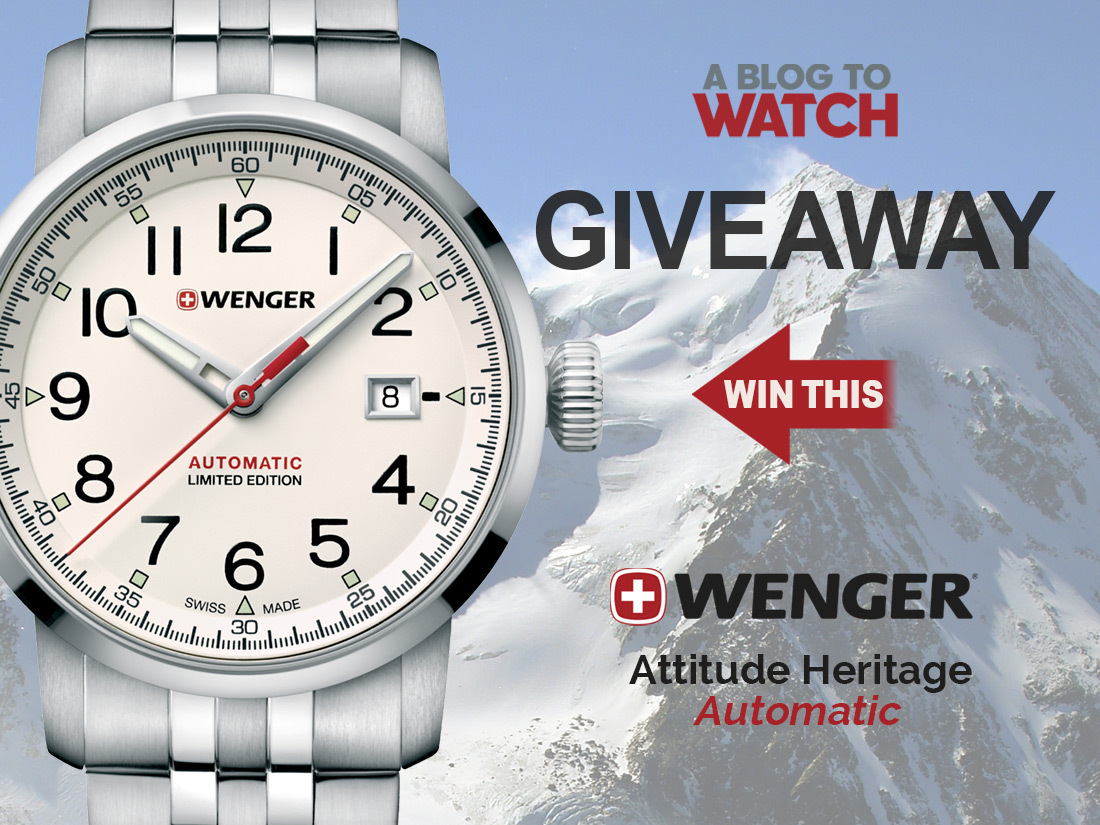 LAST CHANCE: Wenger Attitude Heritage Automatic Limited Edition Giveaways
